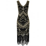 PrettyGuide Women's Flapper Dress 1920s Gatsby Sequin Vintage Cocktail Dress - Vestidos - $27.99  ~ 24.04€