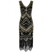 PrettyGuide Women's Flapper Dress 1920s Gatsby Sequin Vintage Cocktail Dress - Dresses - $29.99