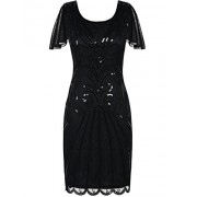 PrettyGuide Women's Flapper Dress 1920s Vintage Bead Deco Inspired Cocktail Gatsby Dress - Vestidos - $29.99  ~ 25.76€