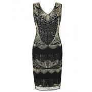 PrettyGuide Women's Flapper Dress Beaded Deco Fringed Inspired Vintage 1920s Dress - Dresses - $19.99