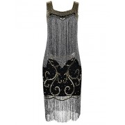 PrettyGuide Women's Flapper Dress Sequin Fringed Cocktail 1920s Charleston Dress - Vestidos - $34.99  ~ 30.05€