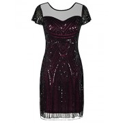 PrettyGuide Women's Gatsby Dress 1920s Bead Sequin Deco Cocktail Flapper Dress - Vestidos - $23.99  ~ 20.60€