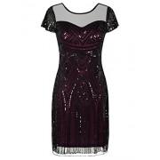 PrettyGuide Women's Gatsby Dress 1920s Bead Sequin Deco Cocktail Flapper Dress - Dresses - $19.99