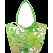 Printed Lime Green Handbag - Сумочки -