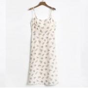 Printed beach skirt dress double layer d - ワンピース・ドレス - $27.99  ~ ¥3,150
