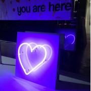 Purple Heart Neon Sign  - My photos -
