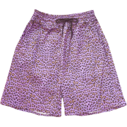 Purple leopard loose high waist five pan - Shorts - $19.99