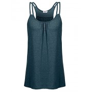 Qearal Womens Sleeveless Scoop Neck Spaghetti Strap Racerback Workout Yoga Tank Top - Top - $5.99