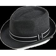 Quiksilver Men's Gunnit Fedora Hat Dark Black - Cap - $19.63