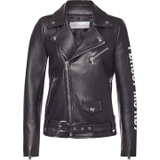 RED VALENTINO Leather Biker Jacket - Chaquetas -