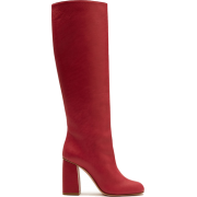 RED VALENTINO Leather Knee Boots - Botas -