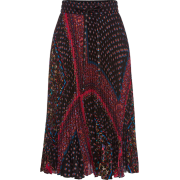 RED VALENTINO Printed Pleated Skirt - Faldas -