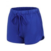 REGNA X NO BOTHER women's stretchy jersey running exercise comfy lounge shorts,17401_blue,Large - Shorts - $20.99