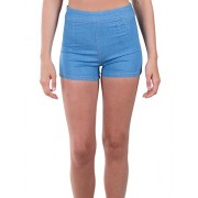 RK RUBY KARAT Premium Design Womens Stretchy High Waisted Chambray Shorts - Shorts - $57.99