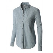 RK RUBY KARAT Premium Womens Classic Long Sleeve Button Down Poplin Boyfriend Shirt - Shirts - $89.99