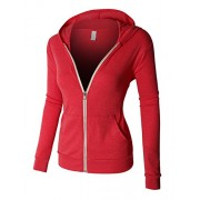 RK RUBY KARAT Premium Womens Lightweight Full Zip Up Hoodie Jacket With Pockets - Shirts - $53.49