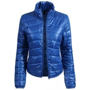 RK RUBY KARAT Womens Casual Fitted Zip Up Puffer Jacket - Outerwear - $45.49