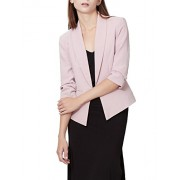 RK RUBY KARAT Womens Fully Lined 3/4 Sleeve Open Front Tuxedo Blazer Jacket With Pocket - Shirts - $59.49