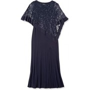 R&M Richards Women's Laced Poncho Over a Long Sheath Dress - Dresses - $36.88