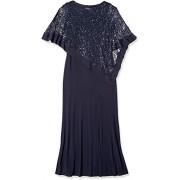 R&M Richards Women's Laced Poncho Over a Long Sheath Dress - Vestidos - $36.88  ~ 31.68€