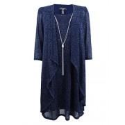 R&M Richards Women's Plus Size Shift Dress and Draped Jacket (22W, Navy) - Vestidos - $59.99  ~ 51.52€
