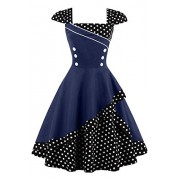 ROSE IN THE BOX Vintage Tea 1950's Floral Retro Swing Prom Party Cocktail Dress - Vestidos - $25.55  ~ 21.94€