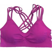 Racerback Strappy Sports Bra - Underwear - $23.99