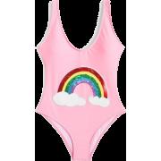 Rainbow Print Low Back Swimsuit - Swimsuit - $20.00