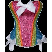 Rainbow Sequin Corset - Underwear -