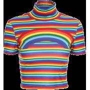 Rainbow Sexy Skinny T-Shirt - T-shirts - $15.90