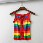 Rainbow Slim Tank Top - Shirts - $25.99