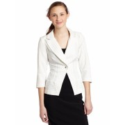 Rampage Junior's Career Jacket With Pinstripe Ivory/Black - Jacket - coats - $23.74