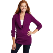 Rampage Juniors Cowl Neck Pullover Sweater Purple - Pullovers - $22.96