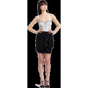 Rampage Juniors Strapless Twofer Dress Black Grey - Vestiti - $23.90  ~ 20.53€