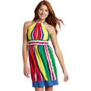 Rampage Juniors Striped Dress White/Green - Dresses - $28.49