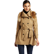 Rebecca Minkoff - Clothing Women's Jacquelyn Trench Coat with Fur Khaki - Jacket - coats - $488.60