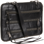 Rebecca Minkoff 5 Zip Laptop Bag Black Shine - Bag - $250.00