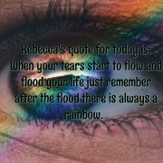 Rebecca's Quote rainbow - Background -