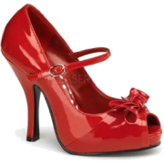 Red Open Toe Mary Jane Pump - 6 - Sandálias - $42.50  ~ 36.50€