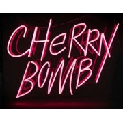 Red 'Cherry Bomb' Neon Sign  - Texts -