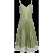 RedValentino green pleated dress - Платья -