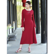 Red dress (Eastern Serenity) - Dresses - $129.00