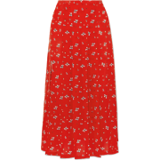 Red floral skirt - Gonne -