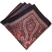 Red paisley pocket square - Tie -