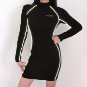 Reflective female wild solid color tight - Платья - $26.99  ~ 23.18€