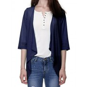 Regna X Boho Women's Open Front Draped Sheer Basic Claasic Cardigan Cover UPS - Shirts - $12.99
