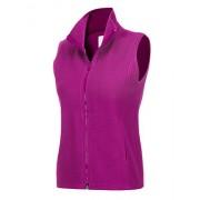 Regna X Women's Polar Fleece Long Full Zip up Fleece Vest Jacket Pink 2XL - Outerwear - $13.99