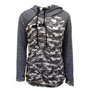 Relipop Women's Print Long Sleeve Camouflage Pullover Hoodie Sweatshirt - Shirts - $13.99