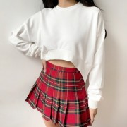 Retro front short long raglan sleeve swe - Pullovers - $27.99