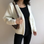 Retro furry imitation mane soft lazy win - Cardigan - $45.99  ~ 39.50€